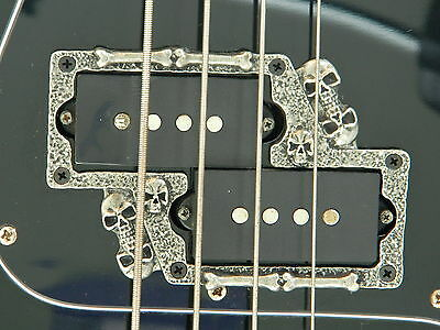 SKULL P BASS PICKUP RING surround fits fender precision guitar with split pickup