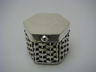 TAXCO STERLING SILVER PILL BOX PILLBOX BRAIDED SILVER STRUCTURE Mexico ca1970s