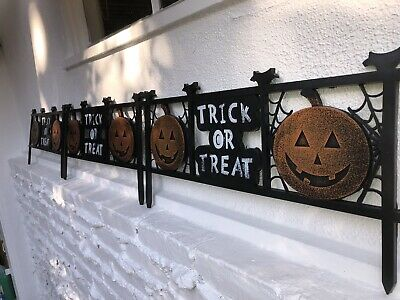 Cemetary Graveyard Fence Trick or Treat Garden Boarder Halloween Yard Decor