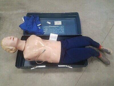 Laerdal Resusci Anne Full Torso Body Recording Manikin Dummy Cpr Training Emt