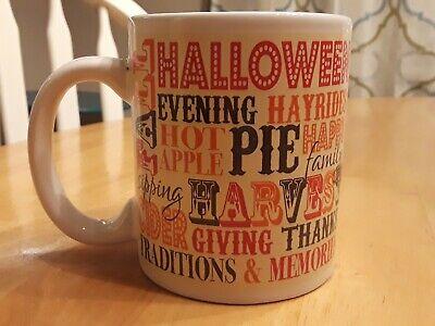 Halloween Themed Coffee Mugs (Halloween Coffee Cup Mug Fall themed coffee cup Thanksgiving pumpkin harvest)