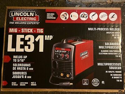 Lincoln Electric Le31mp Weld Multiprocess Mig Tig Stick Wire Feed Welder K3461-1