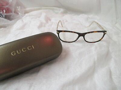 Vintage Bio Based Gucci Eyeglasses with Case tortoise color Frames