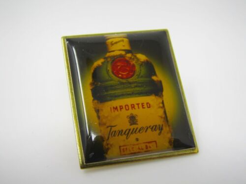 Vintage Collectible Pin: Tanqueray Gin Bottle Design