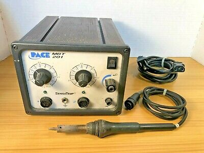 Pace Mbt 201 Soldering Desoldering System 120v With Iron And Power Cable