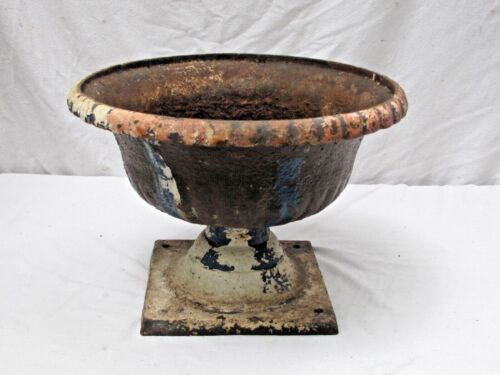 Antique Cast Iron Pedestal Urn Garden Pot 1 of 4 available