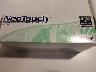 Neotouch Premium Disposable Neoprene Gloves Size Xl Model 25-101