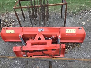 Skid Steer Snow Pusher 8' Wide Power Angle