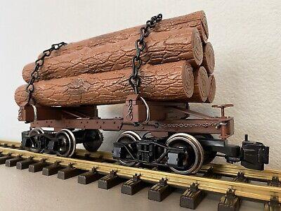 """Bachmann 98490 :: """"G"""" Skeleton Log Car w/Logs, Metal Wheels & Chains (1 of 6)"""