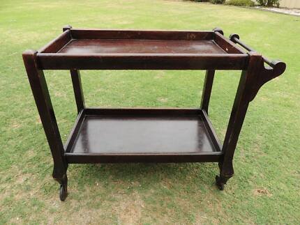 Antique Wooden Drink Trolley St Clair Penrith Area Preview