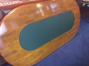 Solid hardwood poker table top Mount Waverley Monash Area Preview
