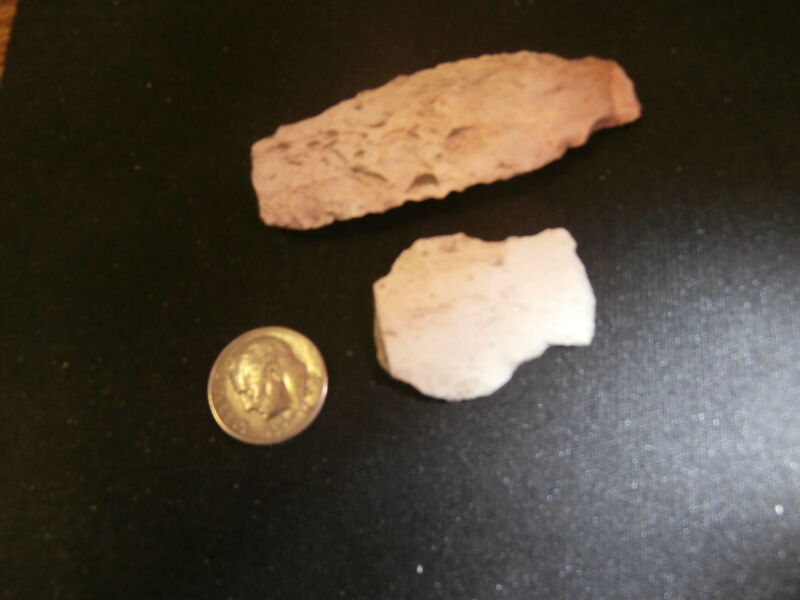 Stone artifacts (2) scrapers