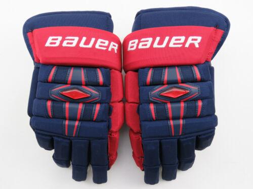"New! Bauer Nexus Team USA Olympics IIHF Pro Stock Hockey Player Gloves 15"""