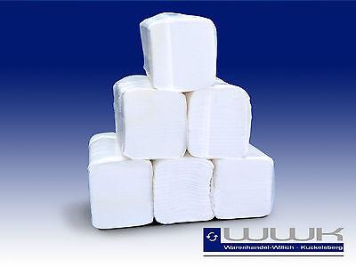 6400 Handtuchpapier, Papierhandtücher Falthandtücher, weiß, 2 lagig