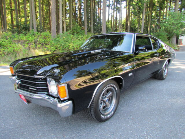 1972 Chevelle Ss 396 Th400 Black On Black Used Chevrolet