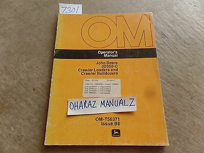 John Deere Jd350-c Crawler Loader Bulldozer Operators Manual Om-t56371