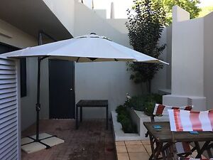 2.5x2.5m cantilever garden umbrella South Perth South Perth Area Preview