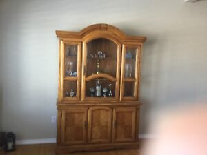 Top quality dining room set and matching hutch and buffet