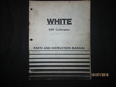 White Cockshutt 249 Cultivator Operation Parts Instruction Manual Original