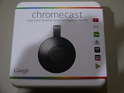 Brand New Google Chromecast Digital Hd Media Streamer 2Nd Generation Authentic