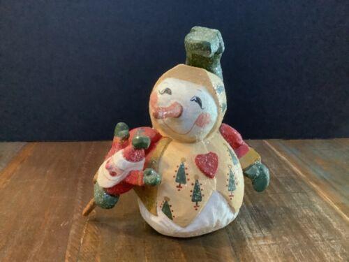 """6 1/2"""" House Of Hatten D. Calla Snowman w/Santa Puppet figure Christmas1998"""