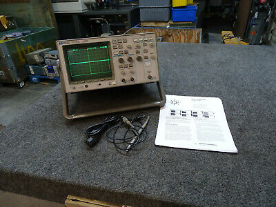 Hp 54600a 100mhz Oscilloscope 1 Probe Data Sheet