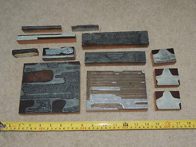 Lot Of Vintage Printing Blocks Letterhead Corps Of Engineers Corpoate Maryland