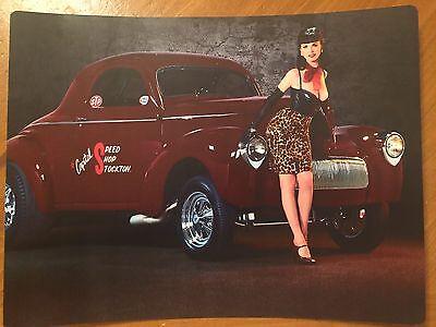 Tin Sign Vintage Metal Pin Up Girl 6
