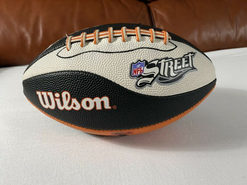NFL Street Wilson Football Video Game Promo Orange Black White Rare !
