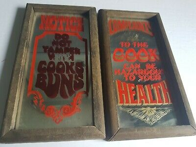 Wallace Berry 1975 Retro Kitchen Mirror Signs
