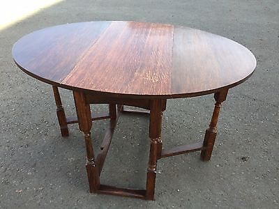 Beautiful Oval Gateleg Table Victorian (7321)