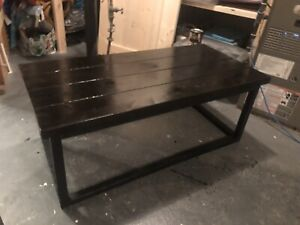 Industrial style wood table
