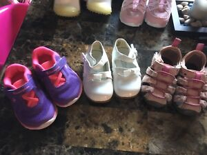 Size 3 lot of girl shoes