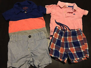 Carter's 6m boys lot of 2 shirts 2 shorts