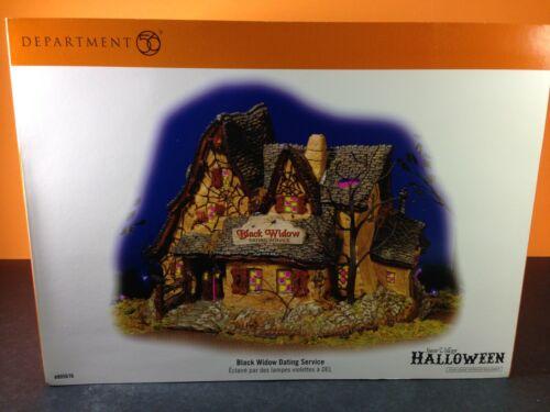 Dept 56 Snow Village Halloween BLACK WIDOW DATING SERVICE 805676 Brand New!