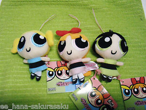 POWERPUFF GIRLS Blossom Bubbles Buttercup TOY PLUSH DOLL TAKARA TOMY A.R.T.S