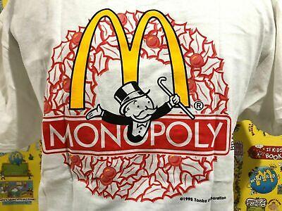 Vintage Hanes Monopoly Tonka McDonald's 1995 T-Shirt Size X Large -