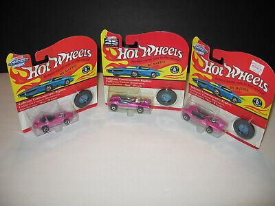 Hot Wheels VINTAGE SERIES REDLINE LOT OF 3 * PINK