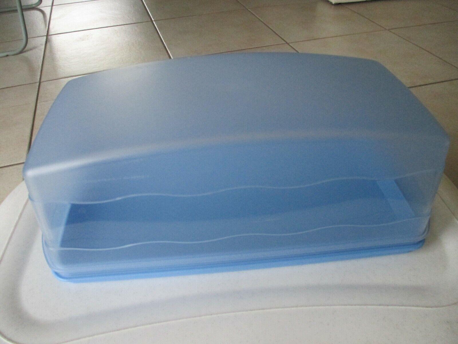 Tupperware junge Welle Kastenkuchenbehälter hellblau