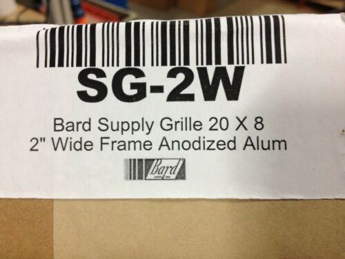 """Bard SG-2W Spply Air Grille 20"""" x 8"""" - 2"""" wide frame Anodized Aluminum"""