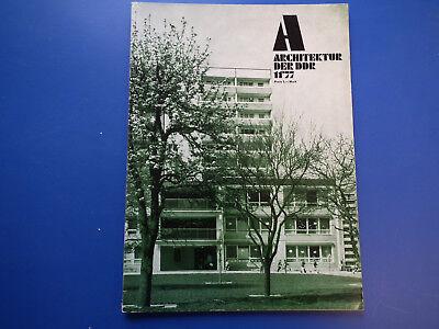 DDR Zeitschrift-Architektur der DDR Heft -11/1977-Berlin-Smaragd Möbelprogramm-