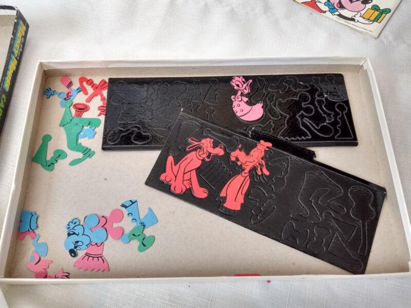 Vintage Mickey Mouse Cartoon kit colorforms toy box game Disney unused Donald