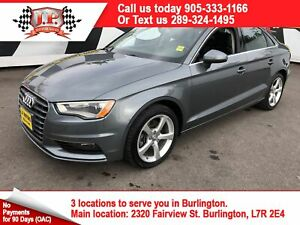 2015 Audi A3 2.0T Komfort, Automatic, Leather, Sunroof, AWD