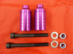 2-x-PURPLE-SCOOTER-ALLOY-GRIND-PEGS-NEW-WILL-FIT-MOST-SCOOTERS