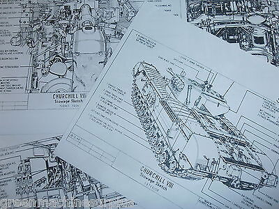 Churchill tank.MK.VIII.Stowage sketches.