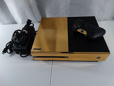 Microsoft Xbox One  1  500 Gb Console System   Gold Fully Working