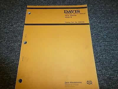 Case Davis Model B Fleetline 304 Special Trencher Parts Catalog Manual Book