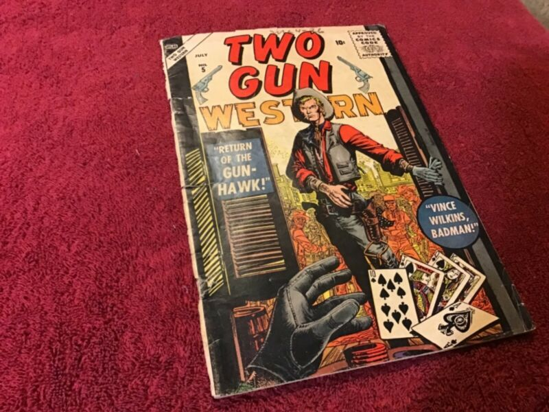 Two Gun Western Comic Book: #5 July 1956: Margood Publishing Corp.