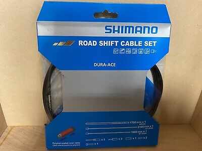 Shimano Road Red SP41 Poly-Coated Shift Cable /& PTFE Brake Cable Set NIB