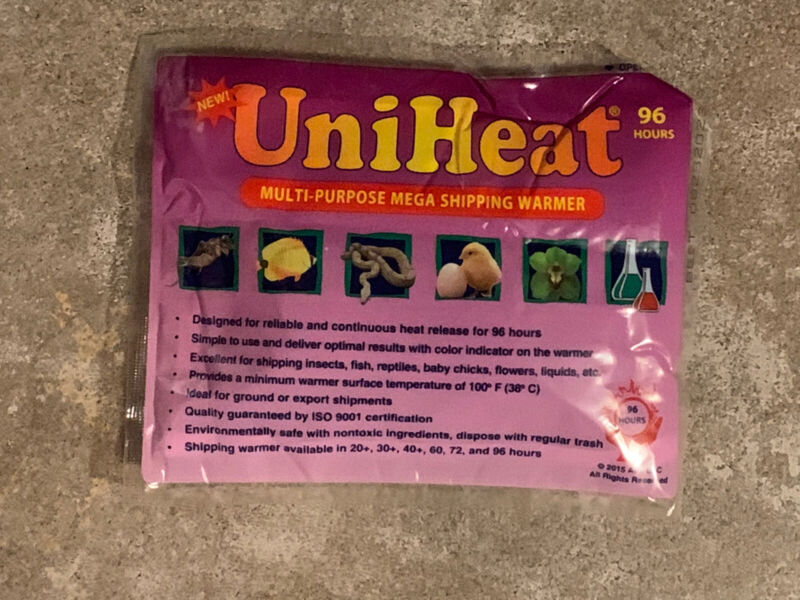 UNIHEAT 96 HR SHIPPING HEAT PACK @INSOLATED Winter Wrap.(ONLYfor Plant Purchase)
